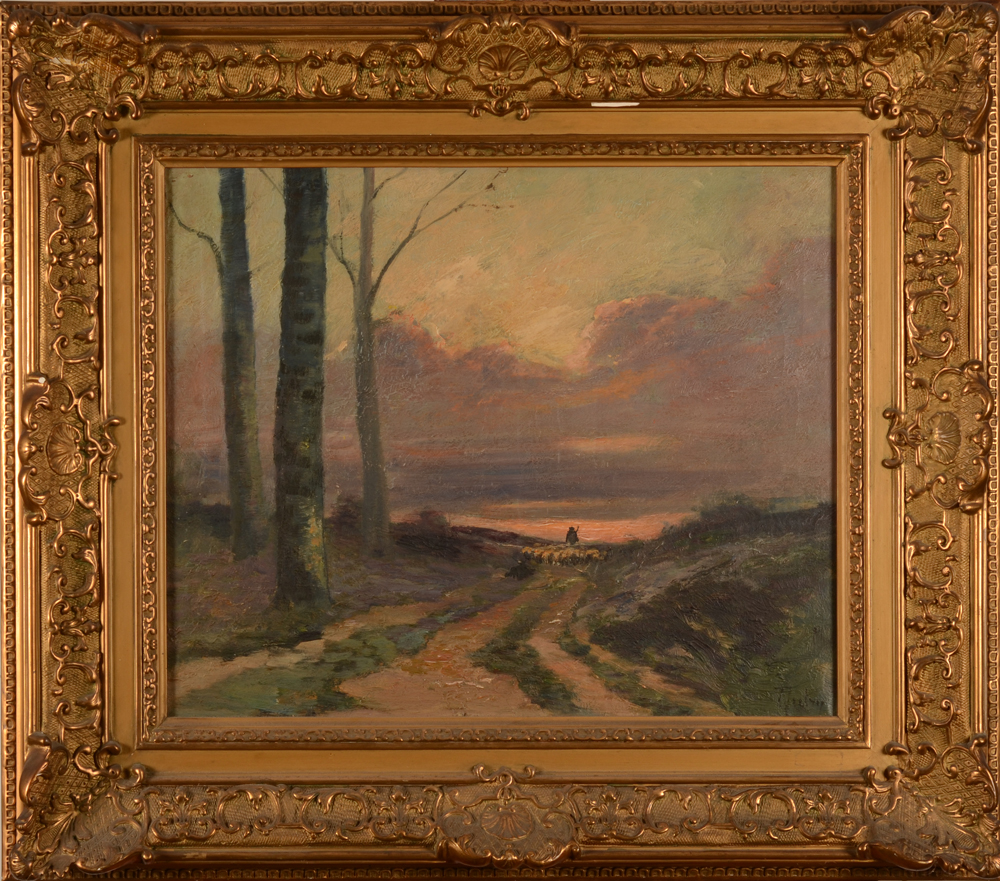 Albert Dutry — The painting in its large frame