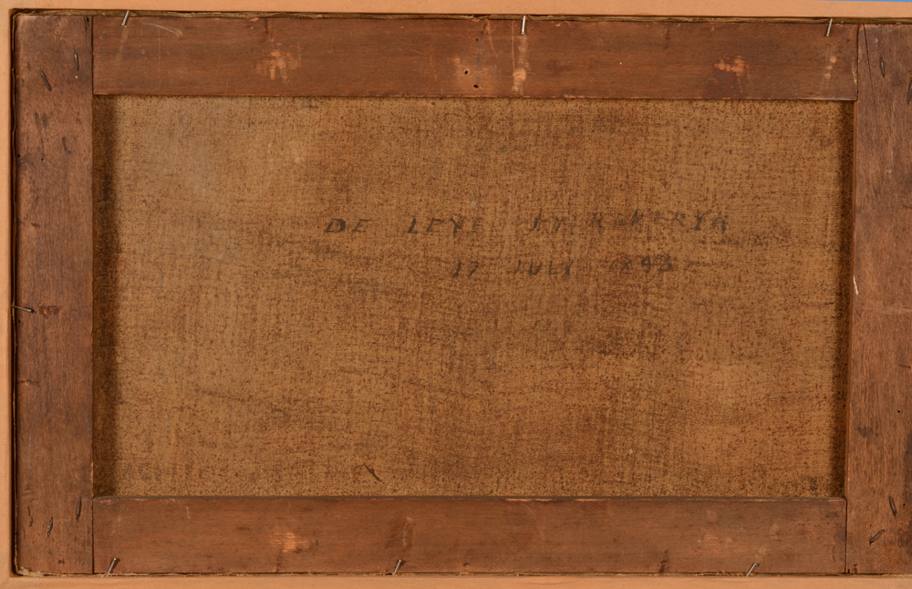 V. Eeckhaut — Back of the painting