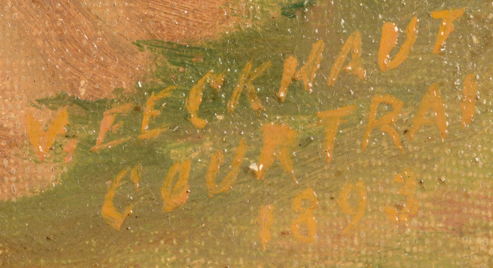 V. Eeckhaut — Signature of the artist, localisation and date, bottom right