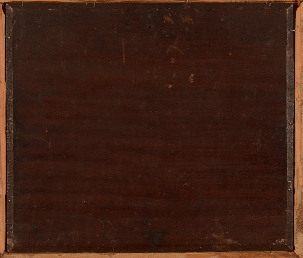 Unknown artist — Back of the mahogany panel