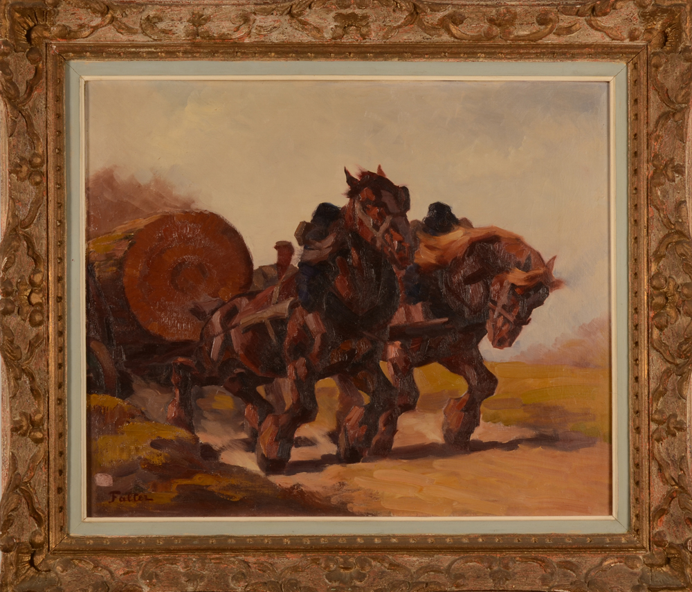 Marcel Falter — The painting in the original frame