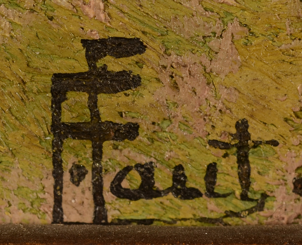 Ernest Faut — Signature of the artist, bottom right
