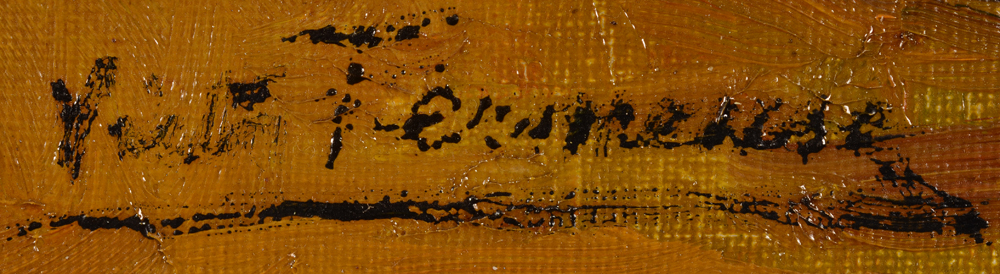 Victor Fermeuse — Signature of the artist on the second painting.