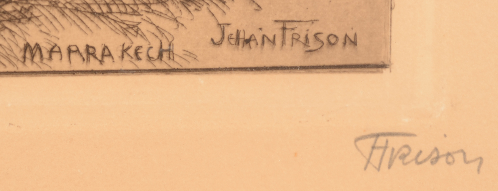 Jehan Frison — Signature of the artist in pencil, bottom right