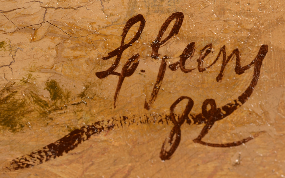 Louis Geens — Signature of the artist and date, bottom right