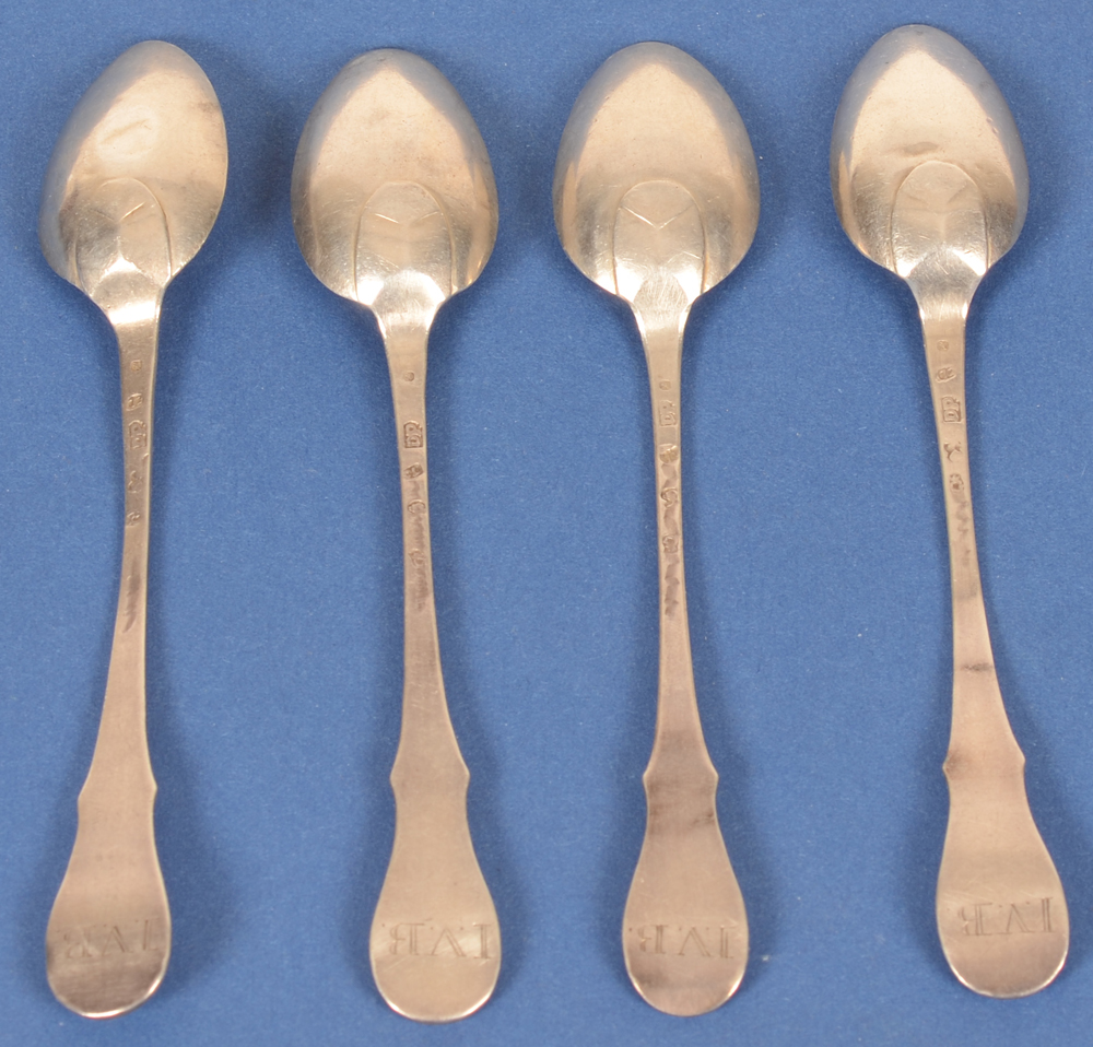 Johannes Franciscus Deprez  — Back of the set of  small spoons