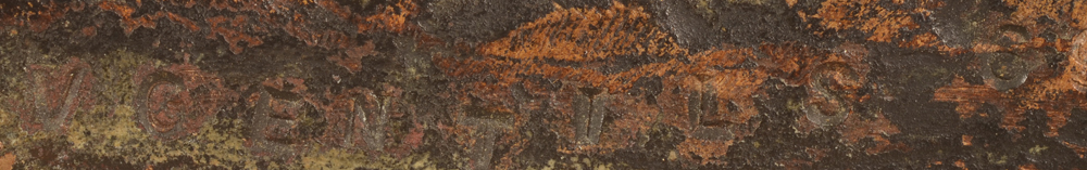 Vic Gentils — Signature of the artist and date, on the front rim of the bronze base
