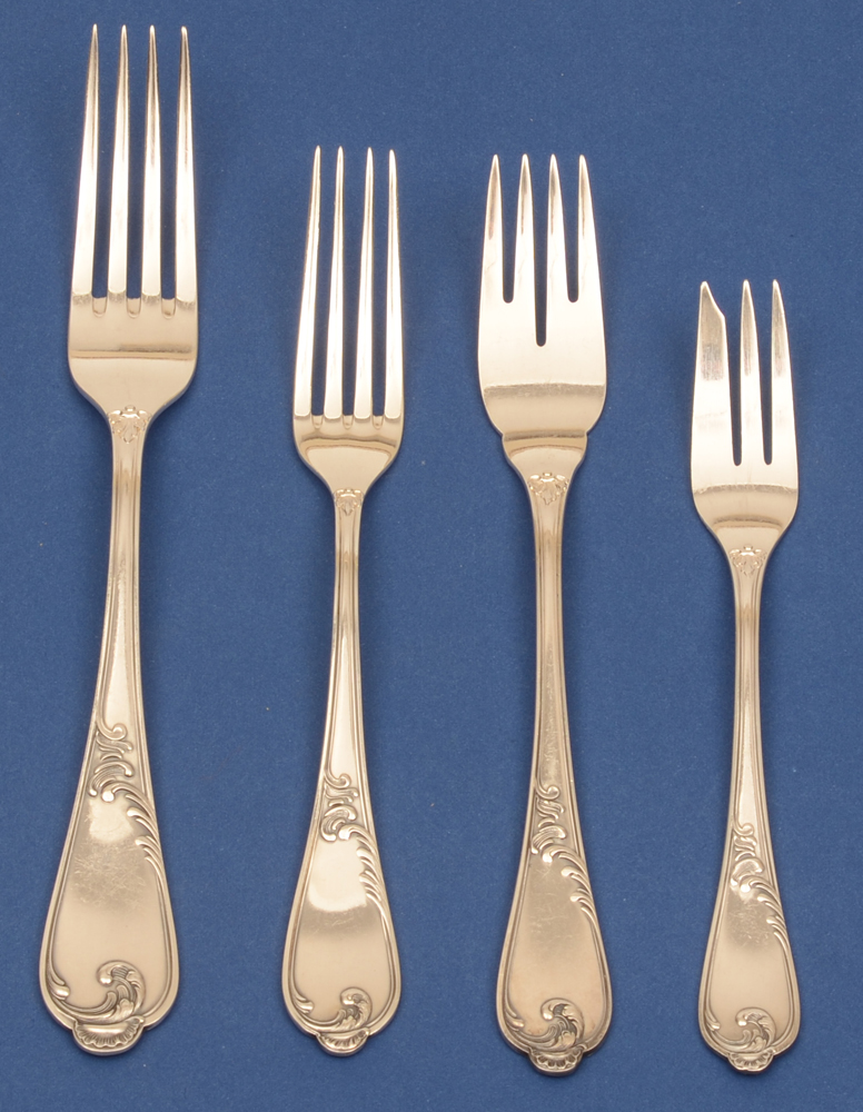 Auerhahn silver cutlery set — All the sterling forks per 12.
