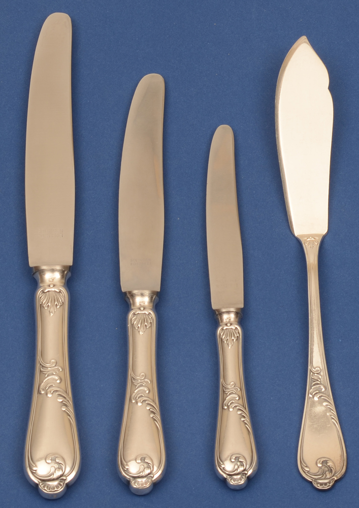 Auerhahn silver cutlery set — All the sterling kives per twelve.