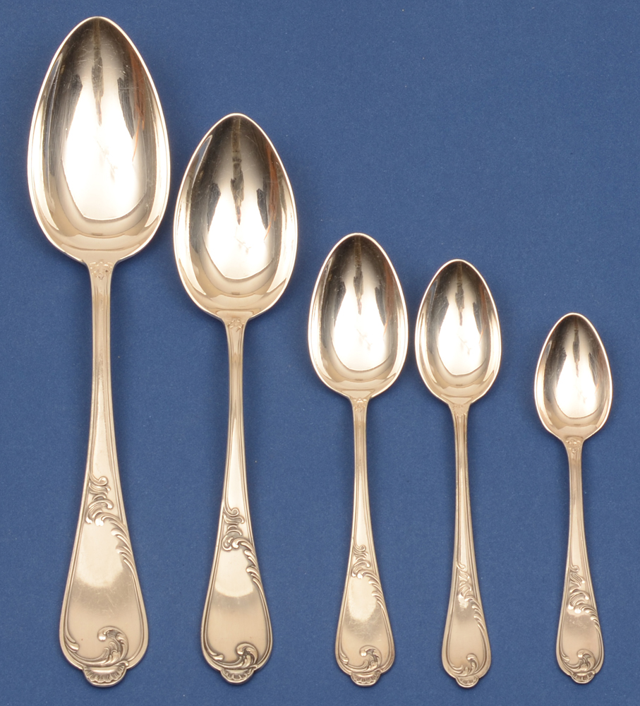 Auerhahn silver cutlery set — All the spoons per twelve.