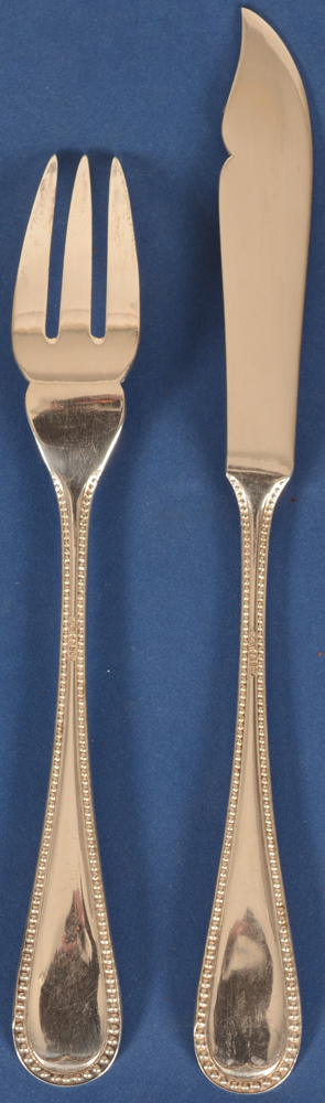 German fish cutlery pearls — Back of the cutlery