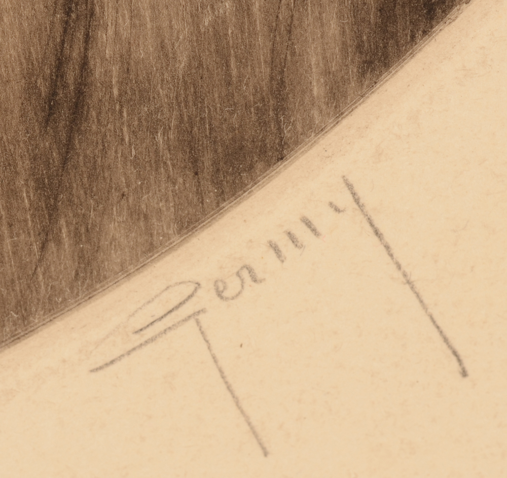 Pierre Rene Germinet — Signature in pencil by the artist. Germinet used the pseudonym Germy to sign his work<br>