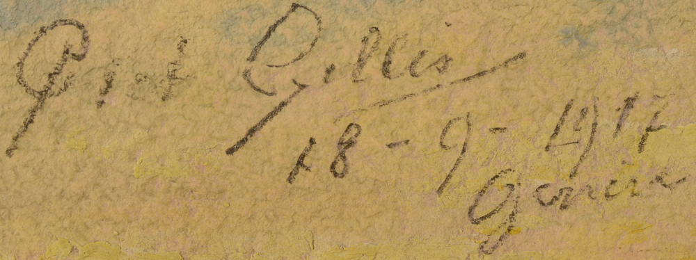 Piet Gillis — Signature of the artist, date and localisation, bottom left