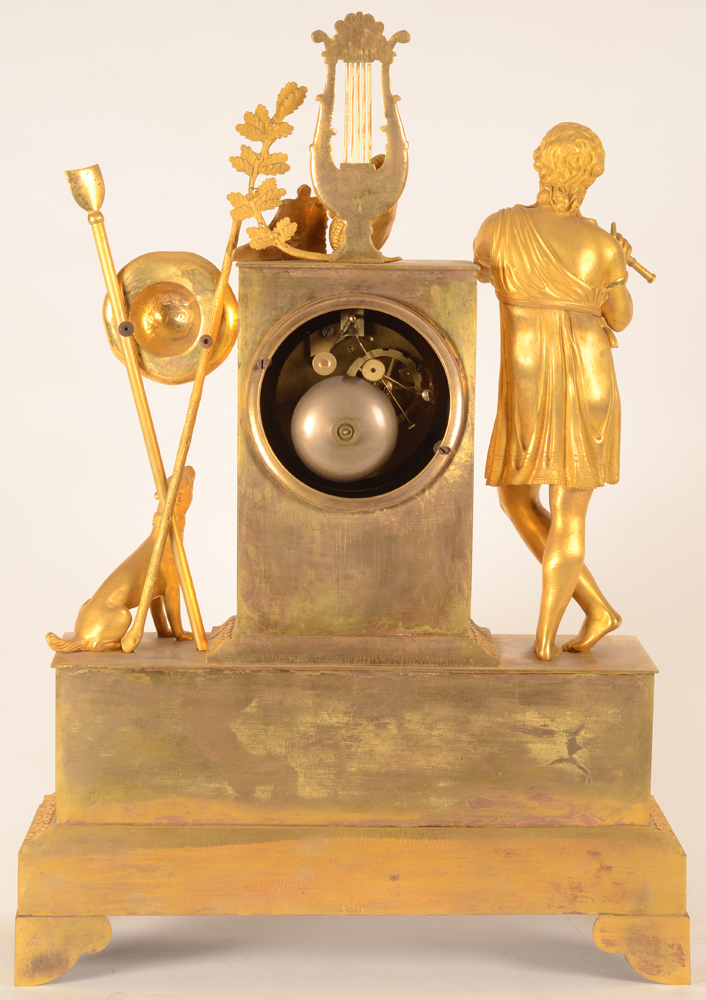 Gilt bronze Charles X clock — Back of the clock