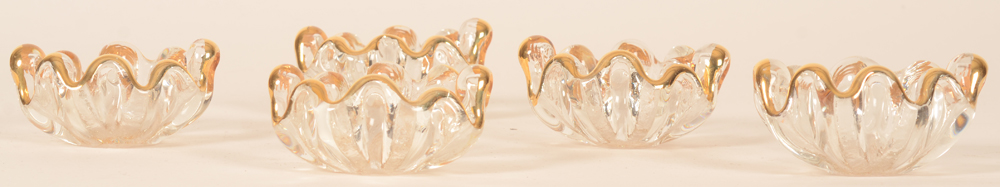 Glass salt cellars — View from the side