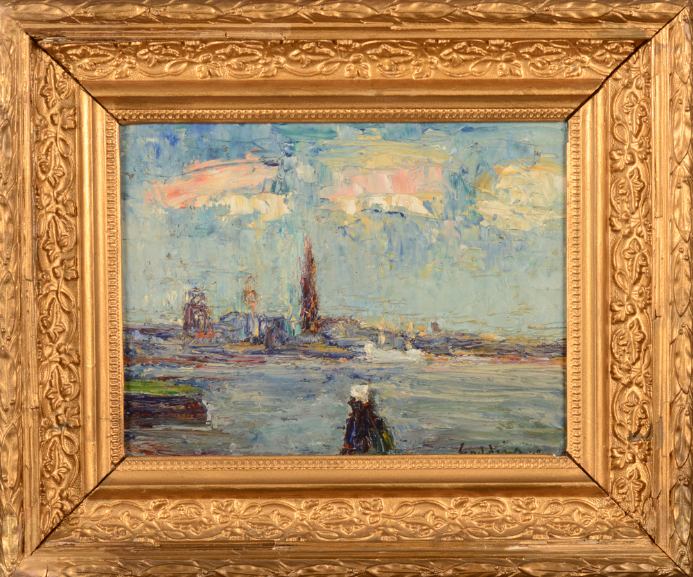 Jack Godderis — the painting with its slightly worn frame