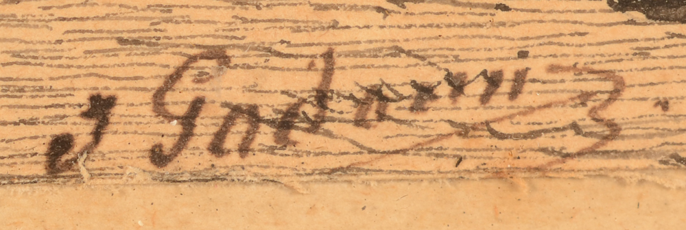 Jean Julien Godenne — Signature of the artist, bottom centre