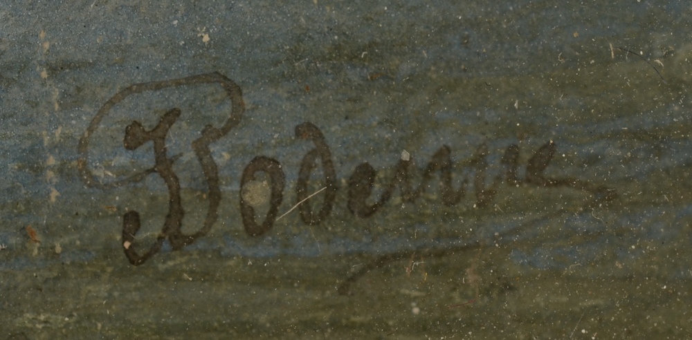 Jean Julien Godenne — Signature of the artist from the marine watercolour