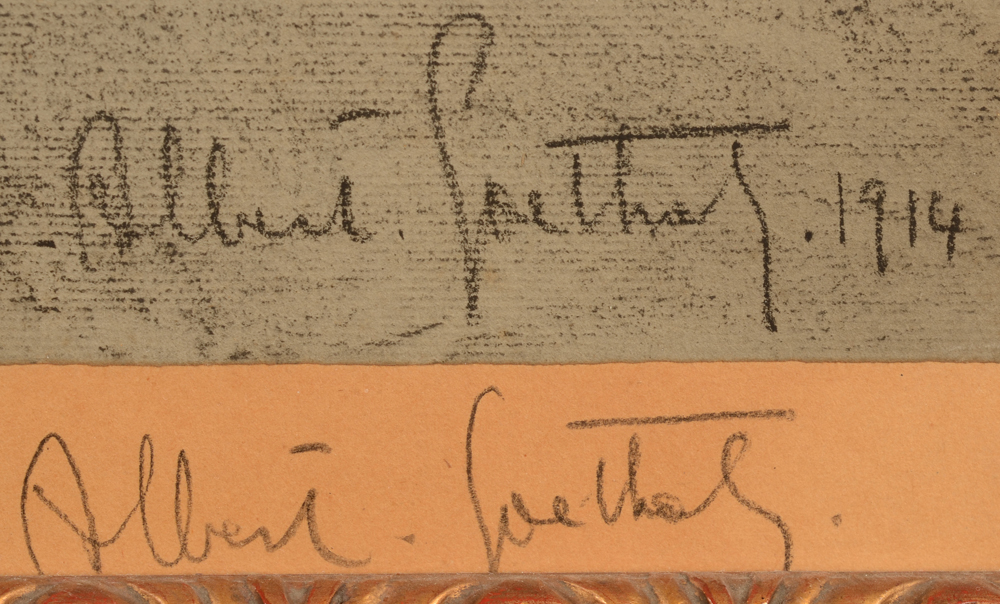 Albert Goethals — Double signature of the artist and date, bottom right