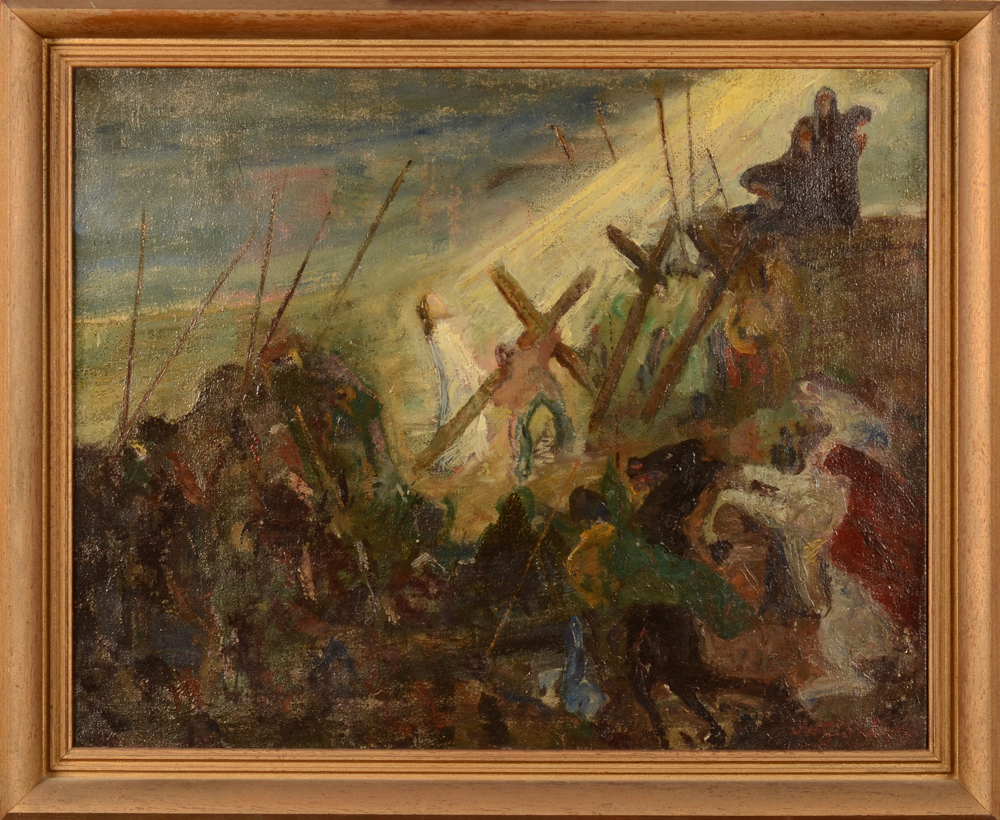 Jan Willem Grinwis Plaat Stultjes — The painting in its frame