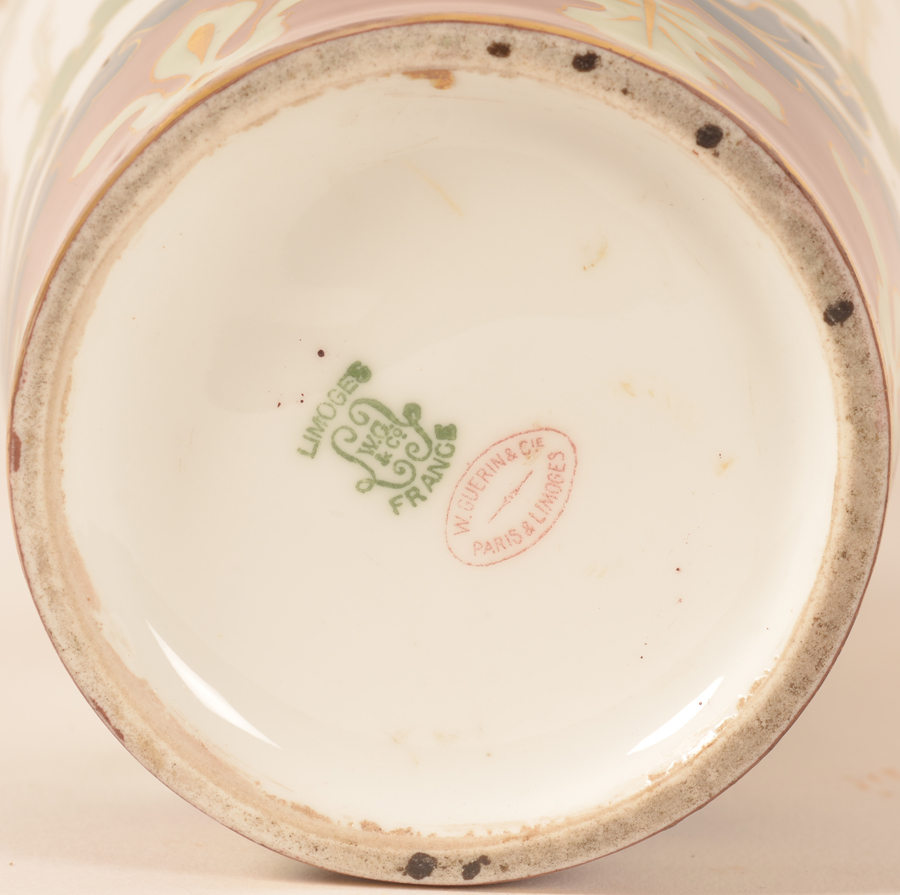 W. Guérin et Cie. Limoges — <p>Marks on the bottom of the piece</p>