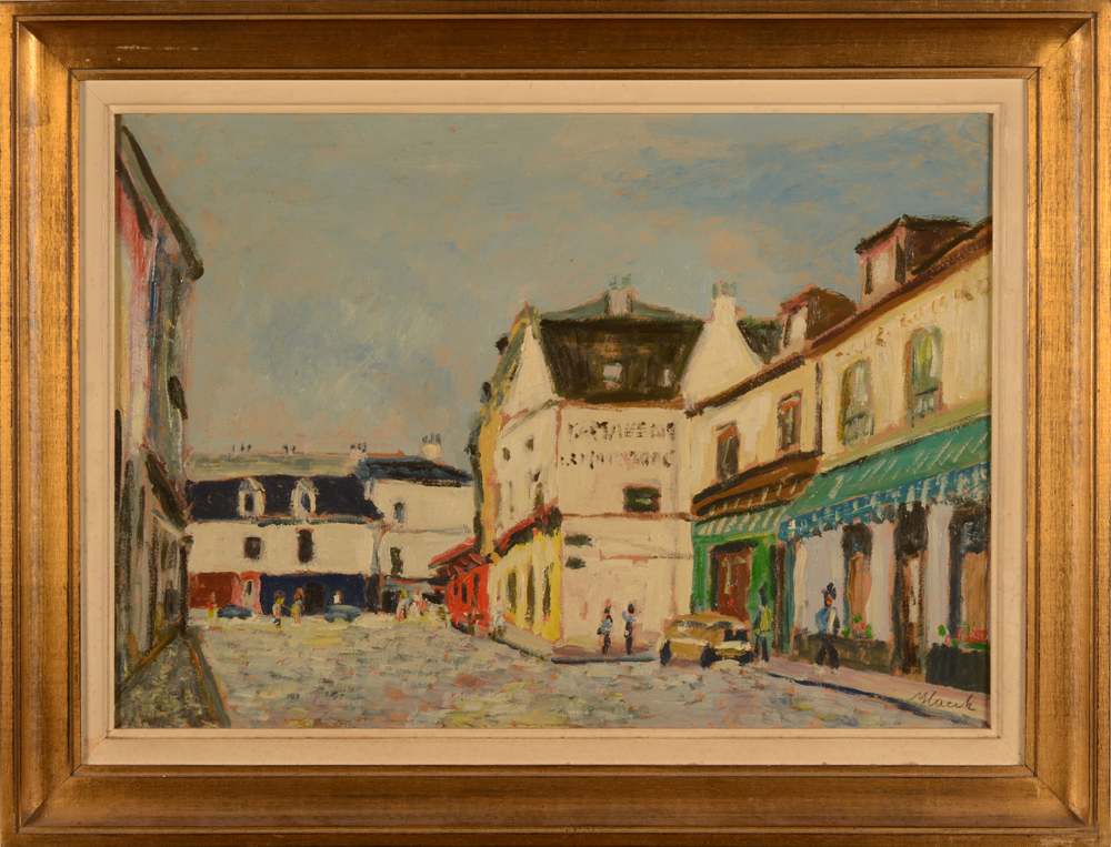 Rigobert Haeck — the painting in its frame