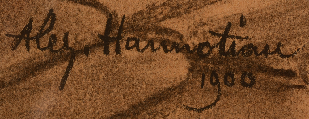 Alexandre Hannotiau — Signature of the artist and date, bottom left