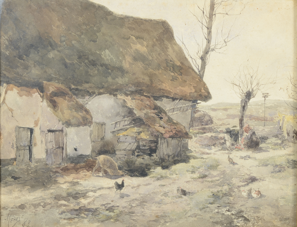 Armand Heins — A very good and early watercolour by this versatile artist.