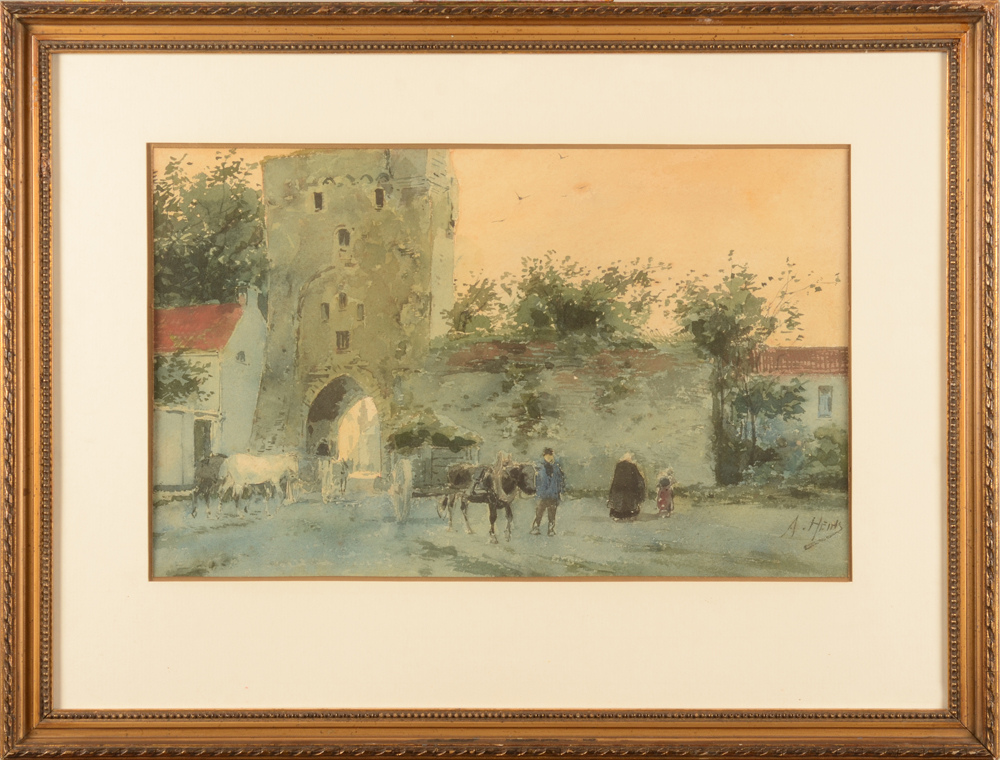 Armand Heins — The watercolour in its frame
