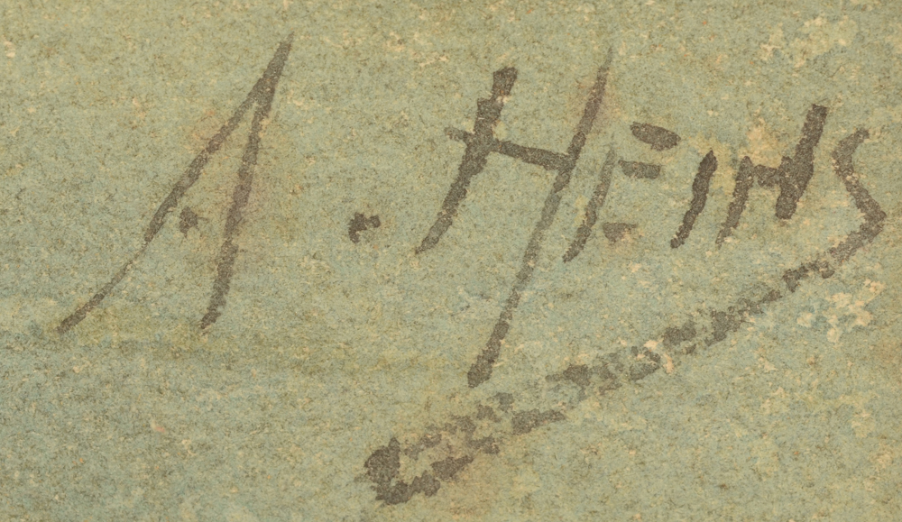 Armand Heins — Signature of the artist, bottom right