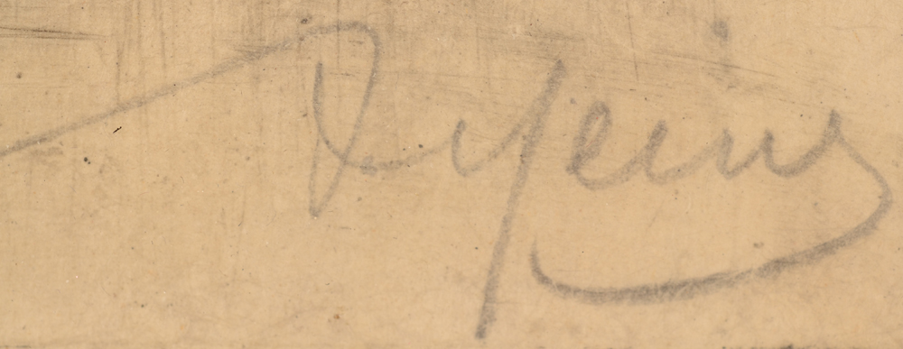 Armand Heins Profile of a bearded man — Signature