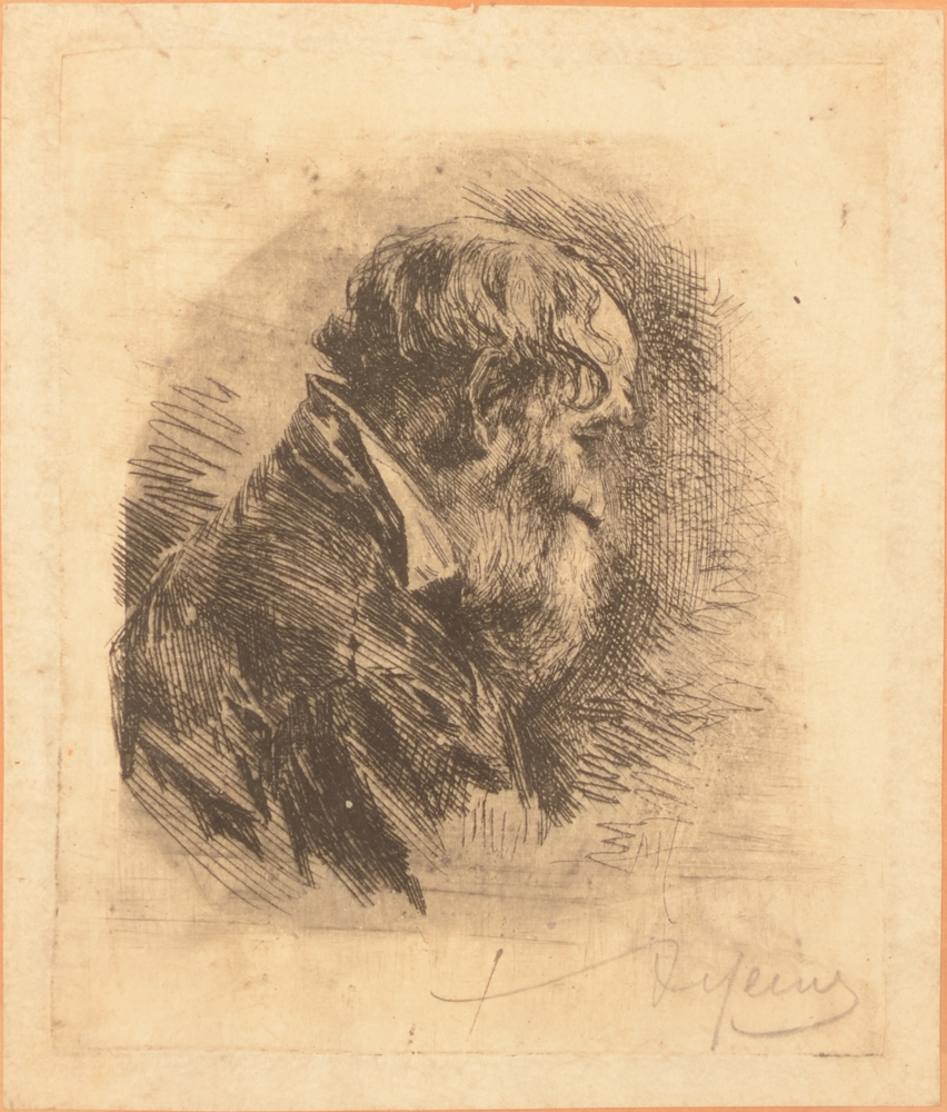 Armand Heins Profile of a bearded man — Eau-forte, Profile d' un homme barbu