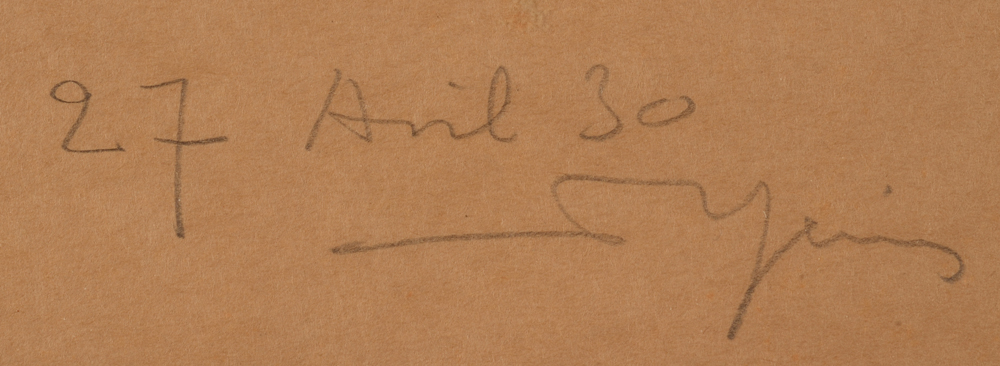 Armand Heins — signature of the artist and date, bottom right