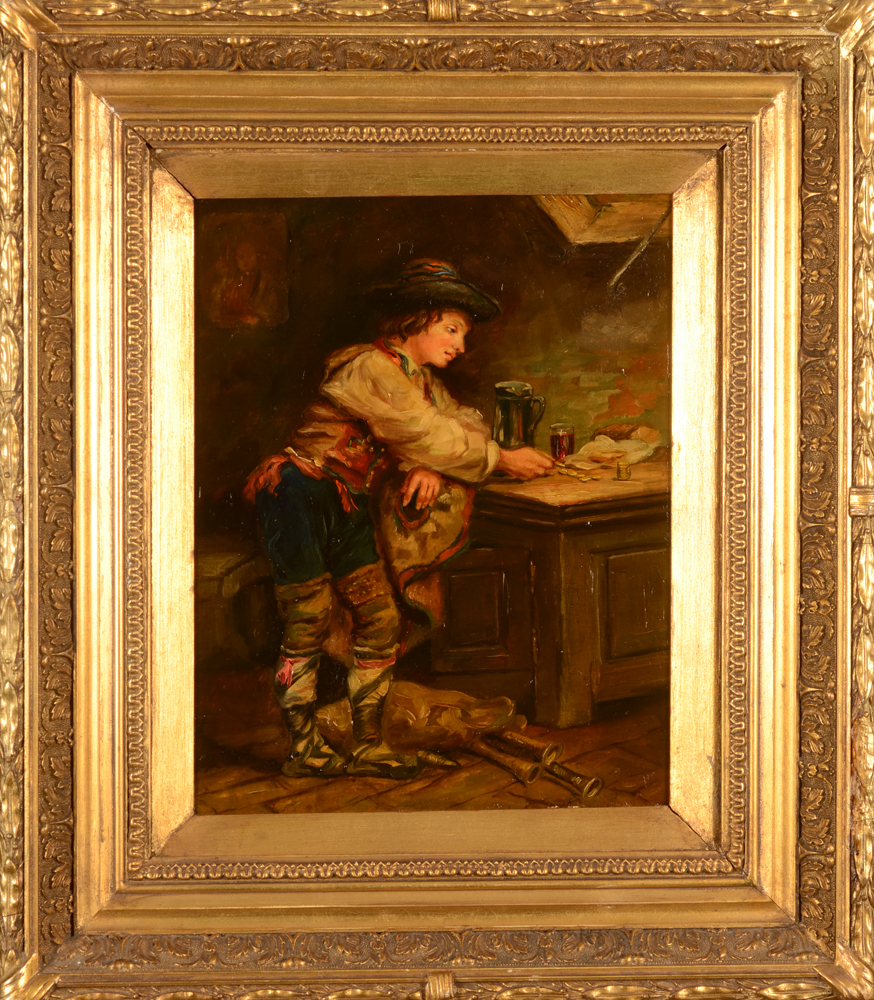 André Hennebicq — The painting in its gilt frame