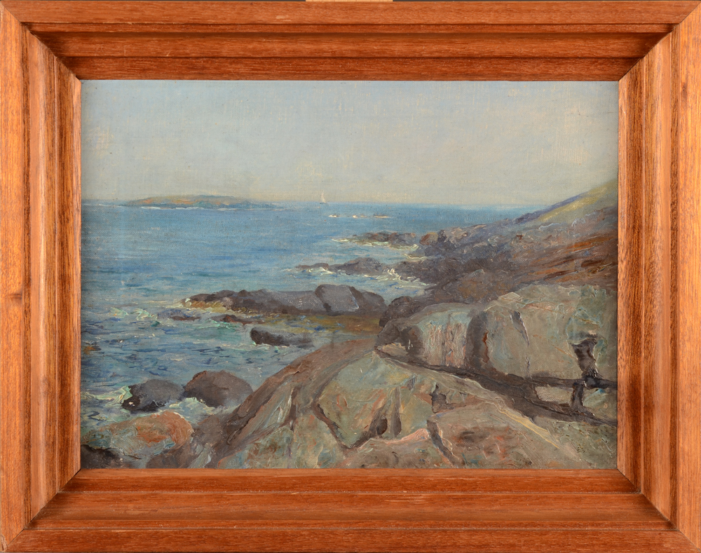 Valentin Henneman — A very well painted and probably early seascape by this Belgian artist working and teaching near Boston (USA) from 1904 onwards.
