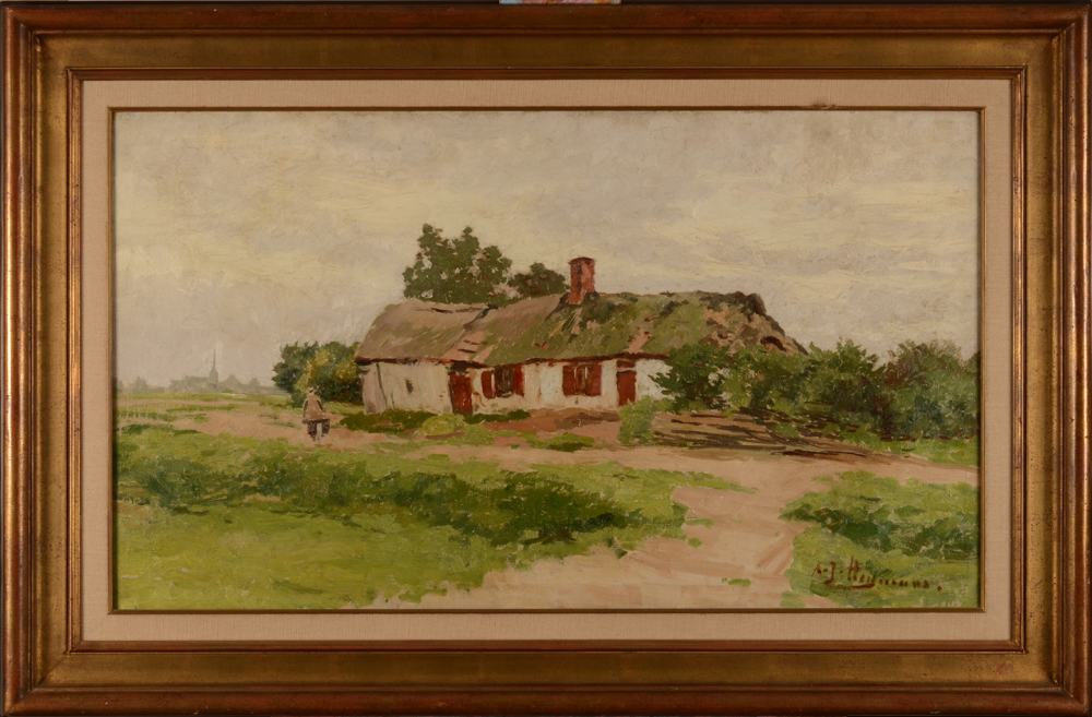 Adriaan Joseph Heymans The Clog Maker's House — With frame