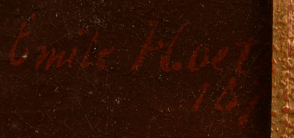 Emile Hoeterickx — Signature of the artist and date bottom right