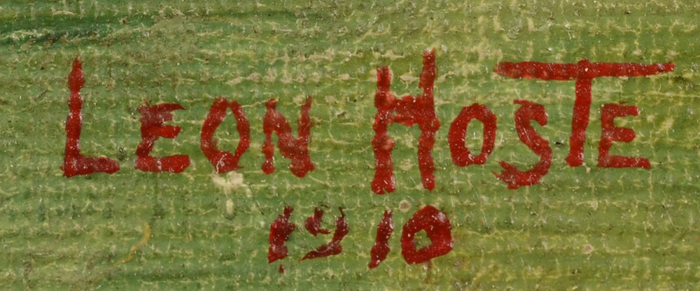Leon Hoste — Signature of the artist and date, bottom right