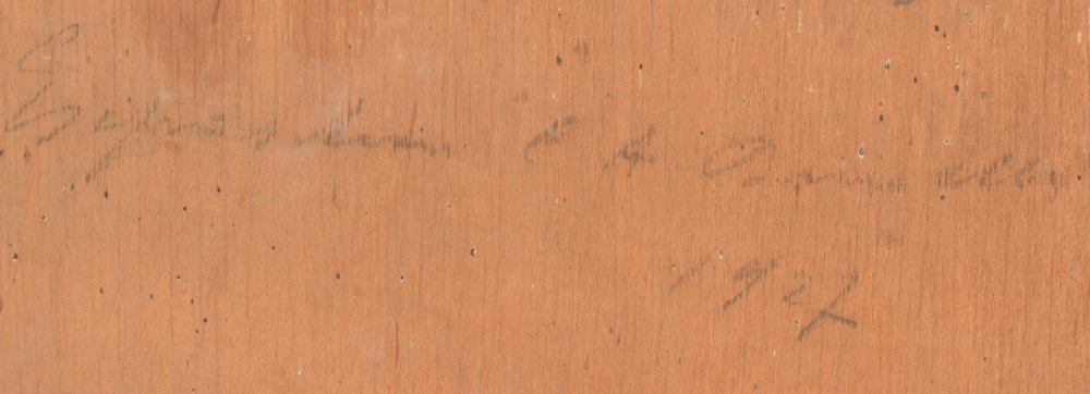Charles Houben — Detail of the inscription in pencil on the back