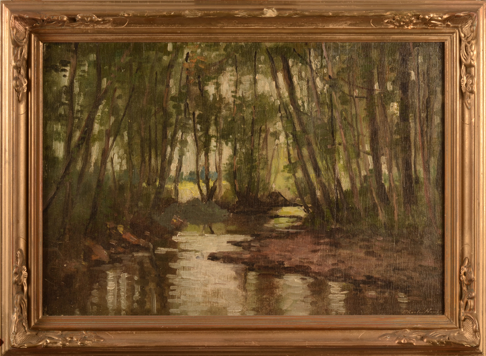 Charles Houben — the painting with its original but damaged frame