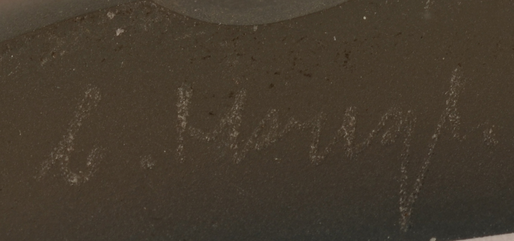 Catherine Hough — The engraved signature of the artist on the bottom of the piece