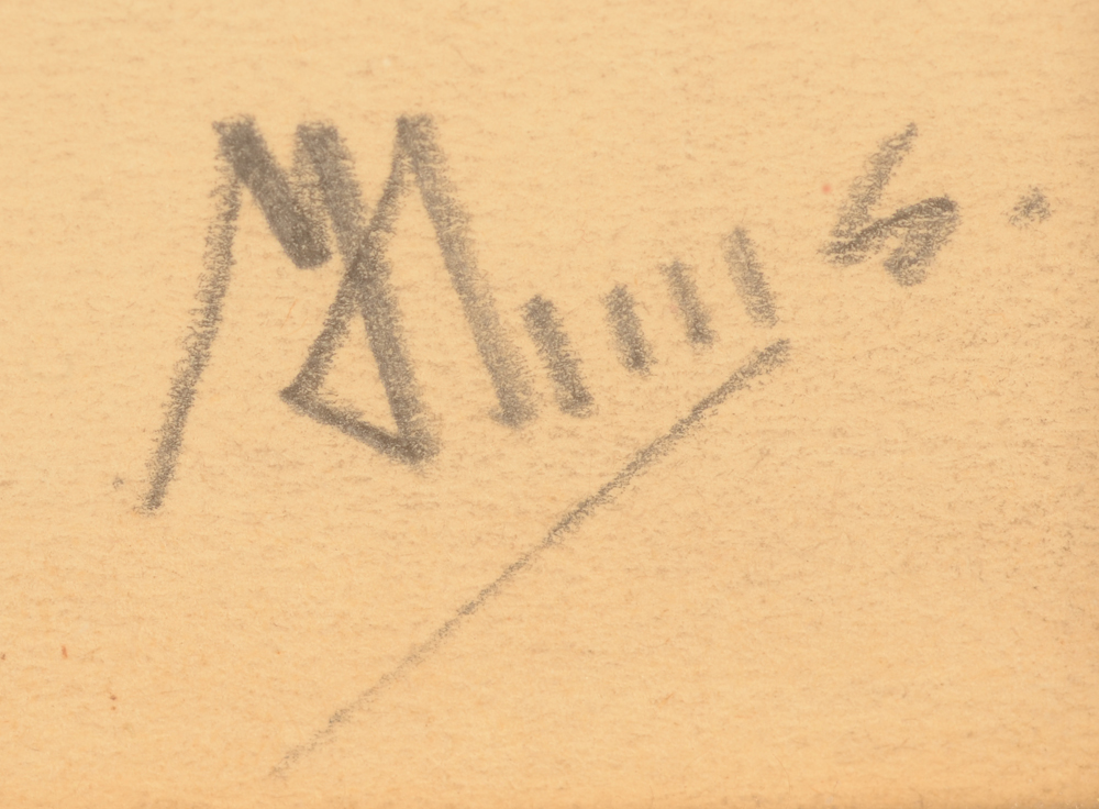 Modest Huys — Signature of the artist, bottom right
