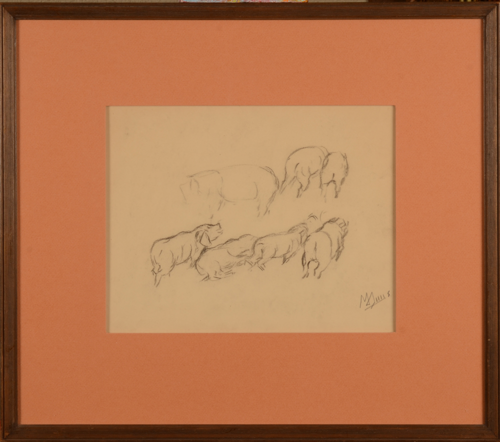 Modest Huys — The drawing in its frame