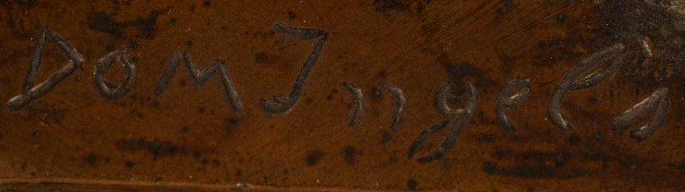 Domien Ingels — Signature of the artist on the base