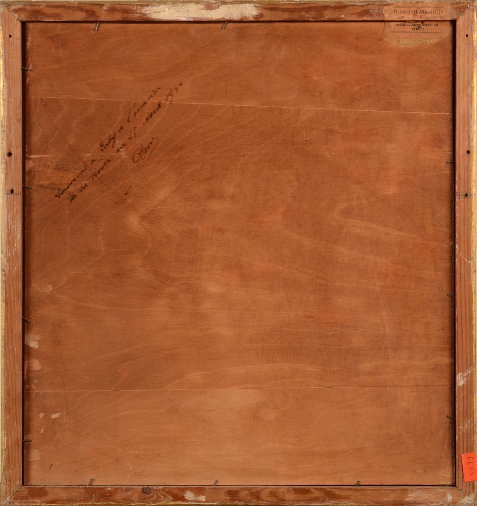 ?Marie Ingels-Pauwaert — Back of the painting, a gift from a collector to a friend in 1940.