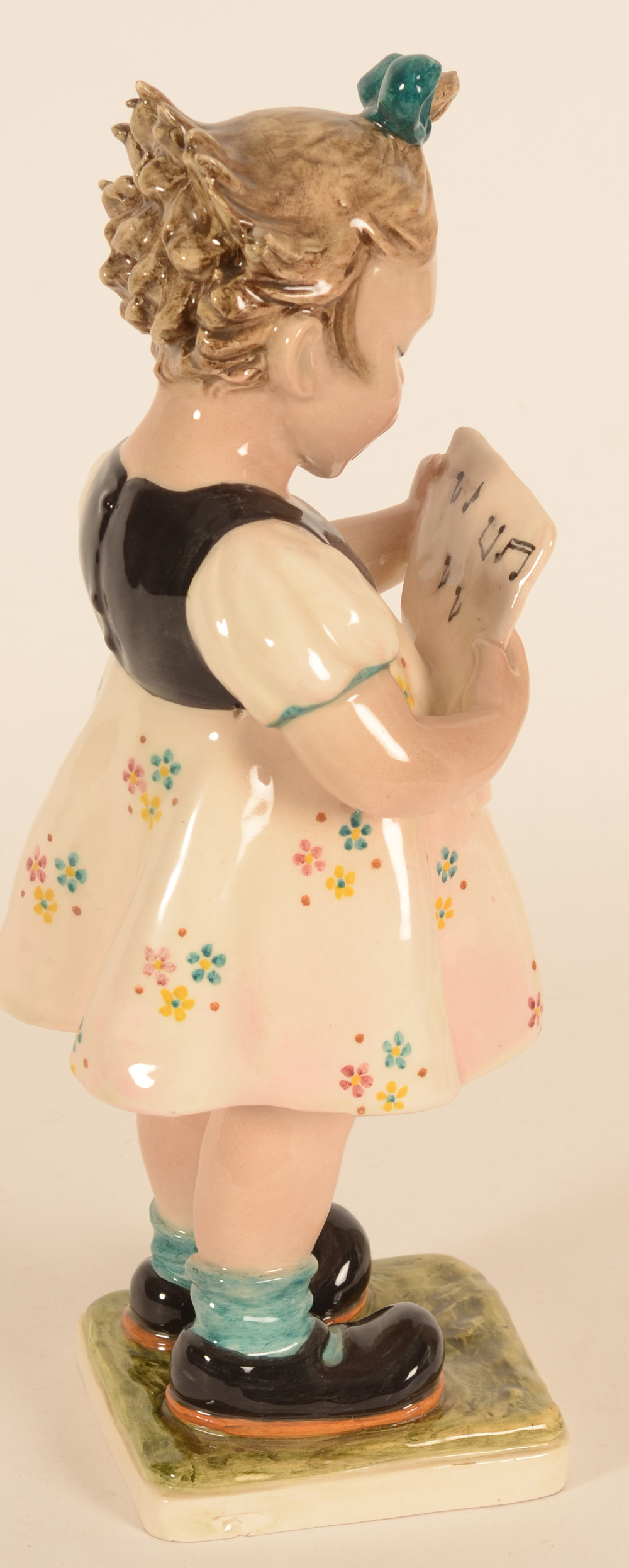 Italian ceramic sculpture — view from the right hand side