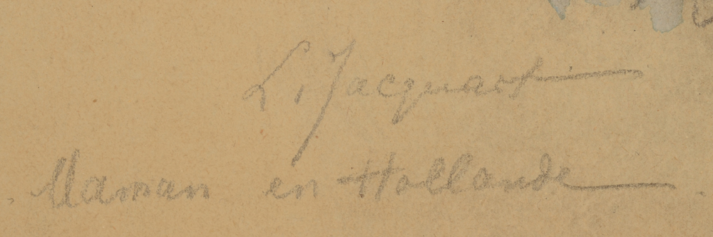 Lucie Jacquart — Signature of the artist and title, bottom left