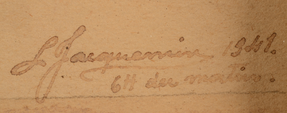 Léopold Jacquemin — Signature of the artist and date, bottom right