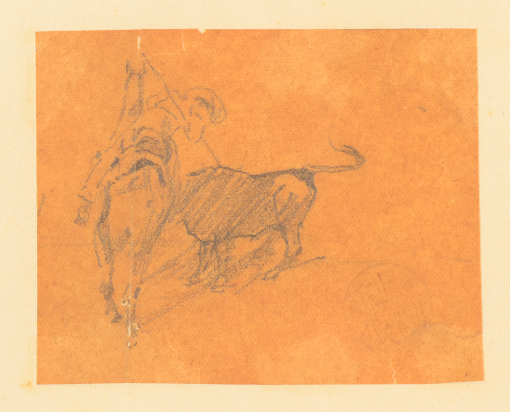 Jean Delvin — Detail of the miniature drawing