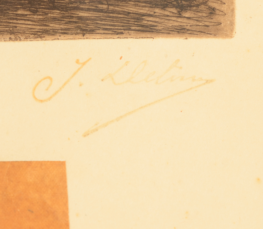 Jean Delvin — Signature of the artist, the stamp used by the estate of Delvin